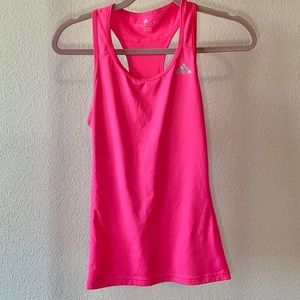 Adidas fluorescent pink sport blouse. Size small